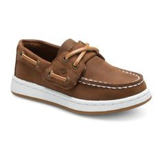 Step up their style for special occasions in the Sperry Cup II leather boat shoe. Just like the adult version, this casual coastal style features a super comfy memory foam footbed, but with an alternative closure for easy on/off — a toddler must! Boys Boat Shoes, Toddler Boy Shoes, Leather Boat Shoes, Sperry Top Sider, Coastal Style, Baby Clothes Shops, Shoes Online, Sperrys, Pumps Heels