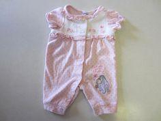 Disney Baby Girl Outfit Preemie Pink SS Short Sleeve Eeyore One Piece #Disney