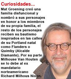 Mat Groenind y Los simpson