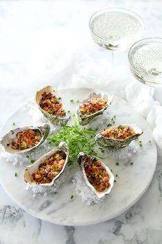 Baked Oysters, Bacon & Pine Nut Crumb - Temptation For Food Nut Recipes, Other Recipes, Micro Herbs, Apple Walnut Salad, Smoked Bacon, Bacon Bacon, Parsnip Puree, Beef Fillet, Salads
