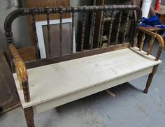 Bench from baby bed