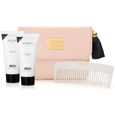 Balmain Hair FW16 Cosmetic Bag (Worth £45.85) (1.070 UYU) ❤ liked on Polyvore featuring beauty products, beauty accessories, bags & cases, make up purse, purse makeup bag, dop kit, toiletry kits and makeup purse