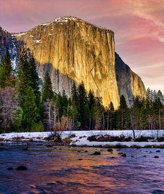 Wall of Granite - El Capitan, Yosemite National Park, California  (by stevewhis on Flickr)