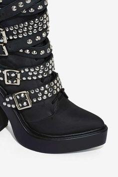 Jeffrey Campbell Ruckus Leather Boot - Heels | Knee High | Jeffrey Campbell