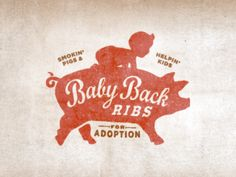 Baby Back Ribs. Another awesome logo design. Typography Logo, Graphic Design Typography, Logo Branding, Branding Design, Composition D'image, Typography Letters, Lettering, Logo Luxury, Packaging