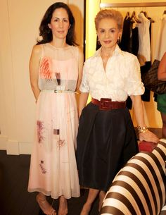 The always ultra chic Herreras.  Patricia and Carolina Herrera.