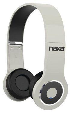 Naxa - Bluetooth Over-the-Ear Stereo Headphones - White