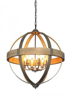 Pendant Light, Industrial Light, Sphere Chandelier