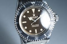 1962 Rolex Submariner 5512 PCG with Gilt Glossy Chapter Ring Chocolate Tropical Dial