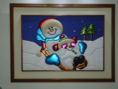 Nieves en trineo Quilts, Frame, Pasta Flexible, Christmas, Sew, Patchwork Embutido, Christmas Ornaments, Craft, Christmas Paintings
