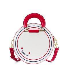 White Circle Faux Leather Handbags Top Handle Cute Crossbody Purse b778fcde79acd