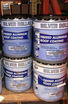 Silver Dollar Fibered Aluminum Roof Coating At The Home Depot
