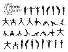 Moon Salutation. Not as well known as the classical Sun Salutation, this is a lovely yoga vinyasa. #yoga