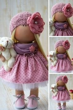 Textile Doll Poupée Nursery Rag Doll Winter Christmas Doll Art Doll Panenka Vinter Fabric Doll Zimy Tilda Doll Muñecas Pink Doll by Olga S Enhance Child Development With Toys. Parents who are trying to find toys that will improve children advanceme Pink Doll, Waldorf Dolls, Fabric Dolls, Winter Christmas, Doll Patterns, Fabric Crafts, Art Dolls, Doll Clothes, Crochet Hats
