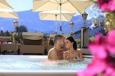 Romantik & Spa Hotel Alpen-Herz Ladis - romantisches Adults Only Wellnesshotel in Tirol Hotel Spa, Adults Only, Tub, Austria, Outdoor Decor, Travel, Patio, Air Fresh, Alps