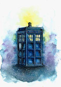 Beautiful TARDIS artwork by Marirlz