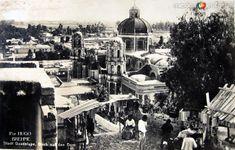 Panorama de la Villa de Guadalupe Por el fotografo HUGO BREHME Hacia 1930 - Fotos de Ciudad de México, Distrito Federal, México
