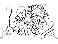 Pigma Calligrapher Demo ft. Maria Thomas    PS: The person TOTALLY left out the letter P. Just sayin.