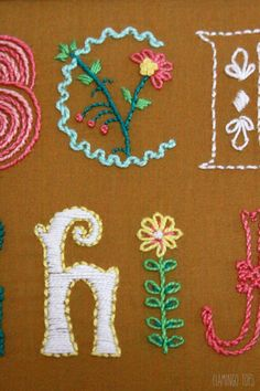 Embroidery Letter Details