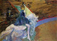Henri de Toulouse-Lautrec  At the Cirque Fernando, Rider on a White Horse