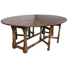 English Oak Gateleg Dining Table