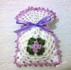 Tecendo Artes em Crochet: Saquinhos Sachê