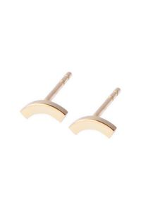 Earring 'Mount'. True to Form - 14kt solid gold collection. www.theboyscouts.nl