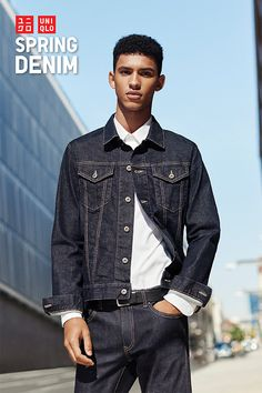 A classic look that never goes out of style. Our new spring denim collection features a wide range of styles. Go for the neat, clean look by pairing our dark wash Selvedge Skinny Jeans with a matching dark wash Denim Jacket. Find your perfect look at uniqlo.com.