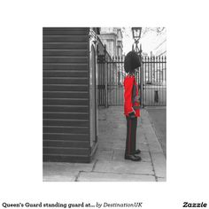 Queen's Guard standing guard at Clarence House Stretched Canvas Prints