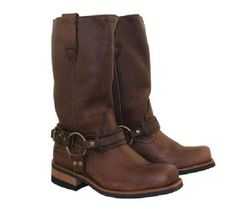 Xelement Women's Dark Brown Crushed Super Harness Boots. 7.5   I will own these. enter 55633 i bought them and I love them.