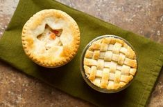 These mini chicken pot pies are made in small jars that can be covered and frozen for a later dinner. Just bottle up (or jar, really) the essence of comfort food with this individual chicken pot pie recipe, made with store-bought pie crust!  Mini Chic