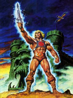 An Earl Norem illustration of He-Man, the most Conan-like cartoon after Conan cartoon, of course. Master Of The Universe, Universe Art, Steven Universe, He Man Costume, Surfer D'argent, Hee Man, Old Posters, Film D'animation, Classic Paintings