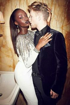 Perfect interracial making out