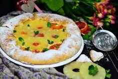 Budinca de tapioca cu ananas si zmeura - CAIETUL CU RETETE Camembert Cheese, Dairy, Cooking Recipes, Food, Pie, Baking Recipes, Cooker Recipes, Essen, Food Recipes