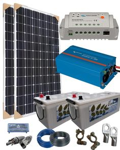 Kit Solar Fotovoltaico Aislada 600W 24V 1600Wh dia|Kit Solar Aislada