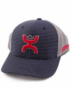 HOOey Hat Youth 'Web' Navy/Grey/Red Flexfit Ball Cap 1678T-DKH