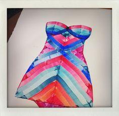 vintage swimsuit | watercolor on paper | 5.26.2011 #watercolor #vintageswim