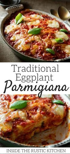 An authentic Italian recipe made with fried eggplant/aubergines, tomato sauce, mozzarella and parmesan. Utterly delicious and comforting and so simple to make, a real family favourite. Vegetarian Comfort Food, Vegetarian Recipes Dinner, Comfort Foods, Dinner Recipes, Italian Dinners, Italian Foods, Italian Recipes, Dinner Party Menu, Dinner Parties