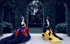 Dior haute couture - just an afternoon stroll in the park, you know.