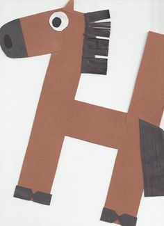 farm, letter crafts, horses, art, alphabet crafts, horse crafts, letters, preschool, kid
