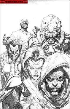 Kwan Chang :: For Sale Artwork :: New Avengers # 33 by artist Leinil Yu