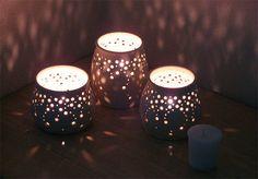 Handmade Ceramic Luminaries by NaomiAnita.