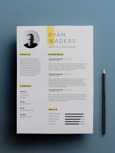 Simple Resume Template, Teacher Resume Template, Resume Design Template, Cv Template, Resume Templates, Graphic Design Cv, Brochure Design, Web Design, Cover Letter Design