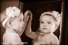 Holiday Reflections: 8 month old pictures by Larry Berger Photography.