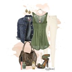 """""""green for spring"""" by enjoytheview on Polyvore"""