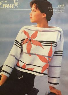 Excited to share the latest addition to my #etsy shop: 1980s Vintage Lady's Sweater Knitting Pattern Sweater Knitting Patterns, 1980s, Vintage Ladies, Men Sweater, Pullover, Lady, Sweaters, Shopping, Fashion