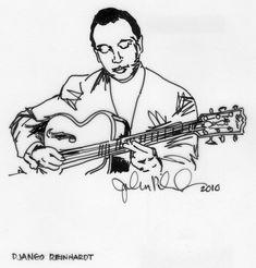 Jazz Guitar, Jazz Music, Django Reinhardt, Portrait, Unique Jewelry, Handmade Gifts, Artwork, Vintage, Etsy
