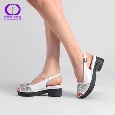 8d7318cc995 AIMEIGAO Summer Wedges platform Women Sandals Square Thick Heel PU leather  Shoes Soft Bottom Mixed Colors Shoes For Women