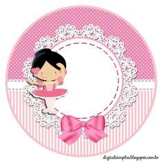"Kit Custom Theme ""Ballerina Pink"" for Printing - Invitations Digital Simple"