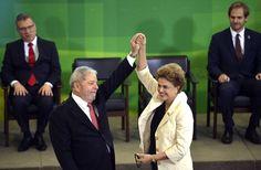 Presidenta Dilma Rousseff com Lula na cerimônia de posse